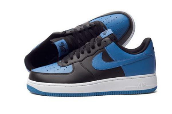 6d40f96a8f0fd1ee8ff6c6b7849e5be3 - NIKE Air Force 1 AF1 黑藍 Royal Blue 情侶鞋 皮革820266-010