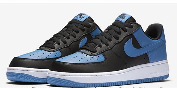 70c541b8b28ce7d1154d6c35e82ef3a1 - NIKE Air Force 1 AF1 黑藍 Royal Blue 情侶鞋 皮革820266-010