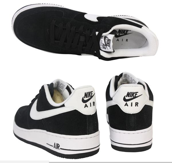 715a51580c5ca5cf35073cea3c7e67cf - NIKE Air Force 1 麂皮 黑白 男鞋 315122-068