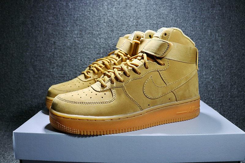 856ab582aea5a6a2c8d0529da5f4ce78 - Nike AF1 空軍壹號 小麥色高筒鹿皮 男女鞋 882096-200