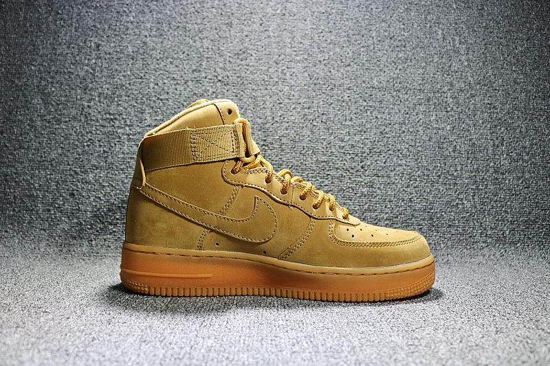 85d37a12a4be7df1546024b5a5b777db - Nike AF1 空軍壹號 小麥色高筒鹿皮 男女鞋 882096-200