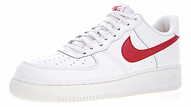 c4e27e0f026615ee66f3aeb84c48c21e - Nike Air Force 1 Low 07 低筒 皮革 板鞋 白紅 男鞋 315122-126
