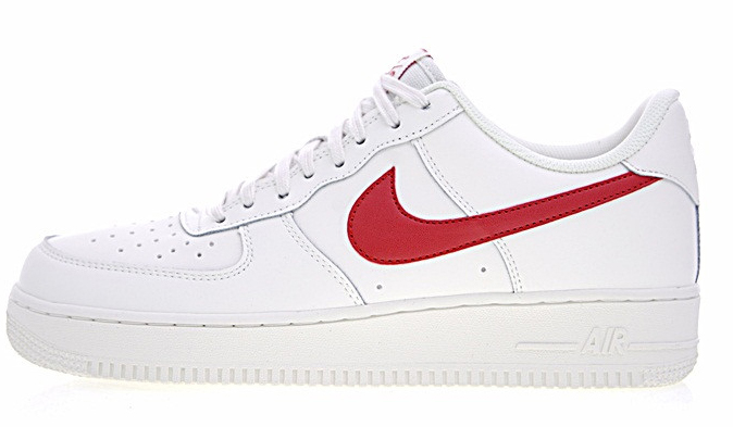 ce7298e908040418d6b3e29c65321e2b - Nike Air Force 1 Low 07 低筒 皮革 板鞋 白紅 男鞋 315122-126