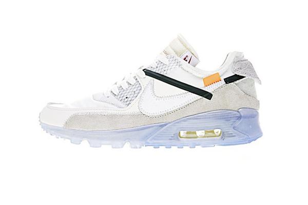 "03c368eed8fe9e6bb05f12e1dd836cb9 - Virgil Abloh設計師獨立品牌OFF white x Nike Air Max 90 氣墊慢跑鞋""OFF-WHITE 白灰冰藍底""AA7293-100"