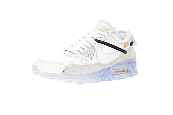 "0910de5d94750beaabfed09615363d7b - Virgil Abloh設計師獨立品牌OFF white x Nike Air Max 90 氣墊慢跑鞋""OFF-WHITE 白灰冰藍底""AA7293-100"