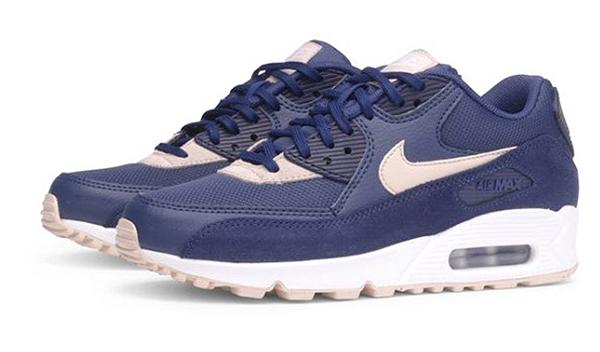 2764e2501f7116a4f31c22ec3b01c277 - Nike Wmns Air Max 90 寶藍白 麂皮 網布 復古慢跑鞋 休閒 情侶鞋 325213-410