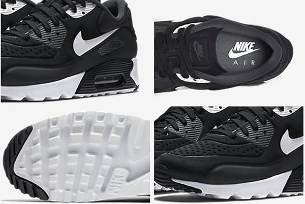 323ec7018930296bf61fdb4714c0026a - NIKE AIR MAX 90 ULTRA SE 男 跑步鞋 氣墊運動休閒鞋 黑白 845039-001