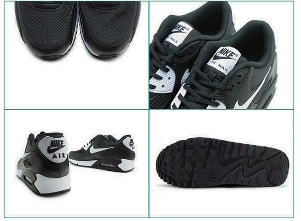 5f55a21e8db2494746e68967a0e0118e - NIKE WMNS AIR MAX 90 ESSENTIAL 黑白 皮革 網面 經典 氣墊 復古慢跑鞋 男女鞋 616730-023