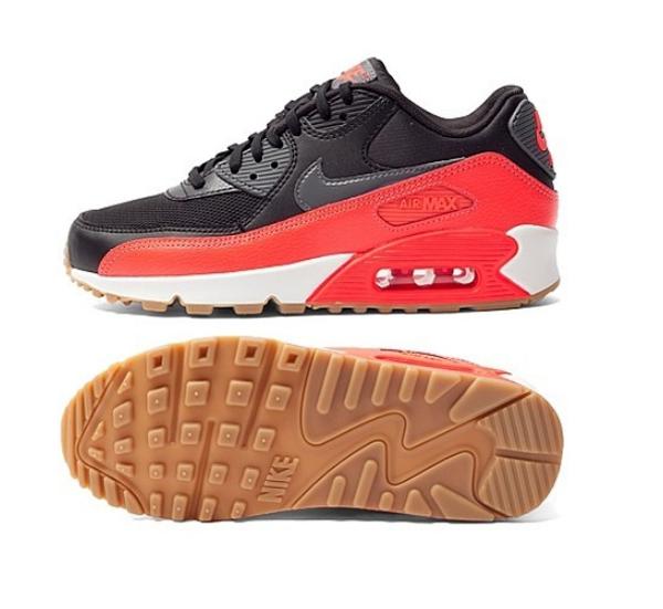 7d315836010af4bd685c3095a26fdd16 - NIKE WMNS AIR MAX 90 ESSENTIAL 皮革慢跑鞋(黑紅) 616730-025 女