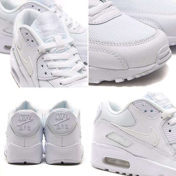 878931d38d6dfbc8f24014c0e55c62f2 - NIKE AIR MAX 90 MESH GS 全白 皮網 情侶鞋 833418-100