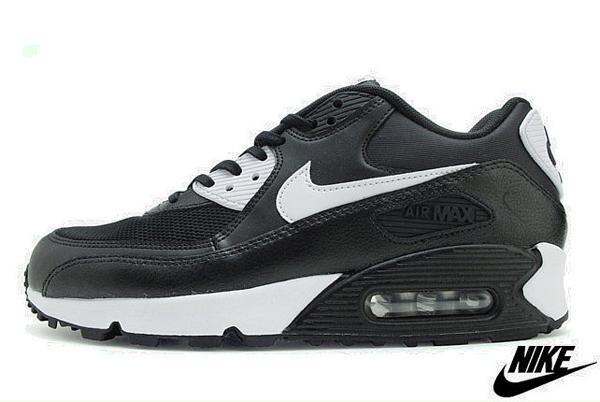 89abbfd8308e6aaa2a9c00de311777d4 - NIKE WMNS AIR MAX 90 ESSENTIAL 黑白 皮革 網面 經典 氣墊 復古慢跑鞋 男女鞋 616730-023