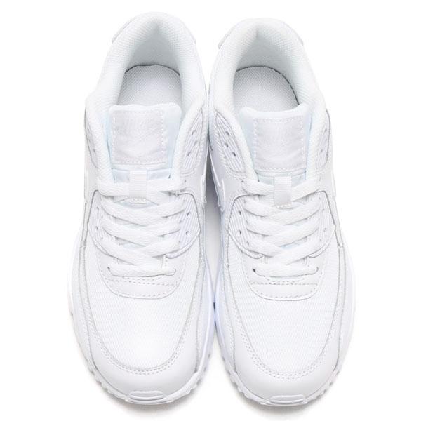 f86f3ab24e84050db96572af7010daa0 - NIKE AIR MAX 90 MESH GS 全白 皮網 情侶鞋 833418-100