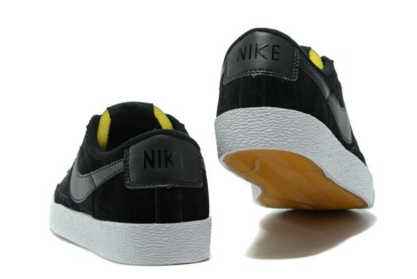 1165b500e546860805e1b662366b4a40 - NIKE BLAZER LOW 麂皮 防滑 全黑 情侶鞋 443603-601