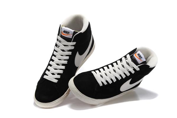 3c3326e007a92d3c104cdbc84d1a24ed - NIKE BLAZER LOW PRM VNTG 復古 黑白 麂皮 防滑 情侶鞋