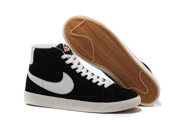 5b651e6c1763e532b2f8ebe08894bb82 - NIKE BLAZER LOW PRM VNTG 復古 黑白 麂皮 防滑 情侶鞋