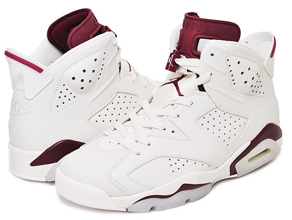 01a63dae280ad45a1938daceacad07ae - Nike Air Jordan 6 Retro Maroon 魔力紅 白棗紅 復刻 高筒 男女鞋 籃球鞋 384664-116