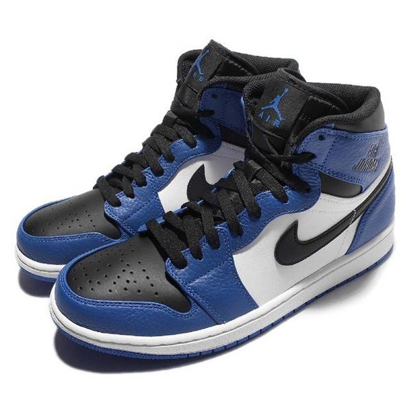 0825d8abe9b4c3704294371de518e916 - NIKE AIR JORDAN 1 RETRO HIGH AJ1 藍白黑 皮革 男鞋 332550-400