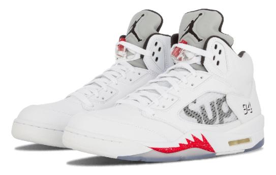 3f244d28ff23ff4853560228532009f4 - Air Jordan 5 Retro Supreme 聯名款 824371 101 白灰 流川楓 男款 籃球鞋