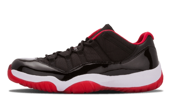 5131968bb4d9611aaeb27bcd62593349 - Nike Air Jordan 11 Retro Low Bred AJ11 低幫 黑紅 男鞋 528895 012