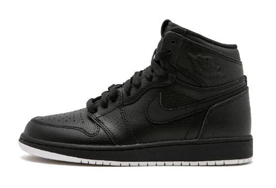 79808c142df8f55679e3180e03d65e33 - Air Jordan 1 Retro High OG BG - 575441 002 黑色 白底 高筒 籃球鞋 情侶款