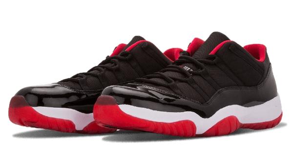 87225a8efcb5dc6fefba8f1417fb3451 - Nike Air Jordan 11 Retro Low Bred AJ11 低幫 黑紅 男鞋 528895 012