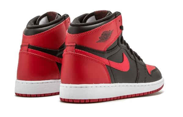 8c6cae45b7fb43a2a814de6917bd87de - Air Jordan 1 Retro High OG BG 黑紅 皮面 經典 男女鞋 575441 001