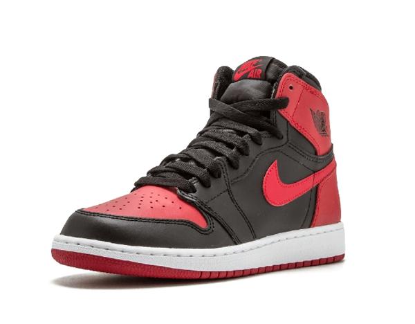 99acb3d1109bd8e9e106681e6c61ce0c - Air Jordan 1 Retro High OG BG 黑紅 皮面 經典 男女鞋 575441 001