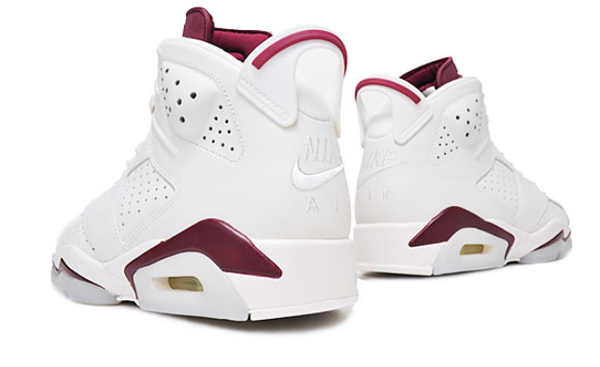 b7d723fe914f1eefaf3bdd9ad1a4198b - Nike Air Jordan 6 Retro Maroon 魔力紅 白棗紅 復刻 高筒 男女鞋 籃球鞋 384664-116