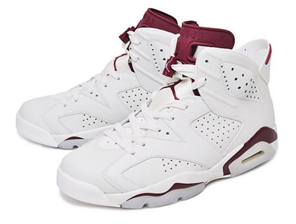 cc03ecd9dc14c4cd9f3ac56834bee3a1 - Nike Air Jordan 6 Retro Maroon 魔力紅 白棗紅 復刻 高筒 男女鞋 籃球鞋 384664-116