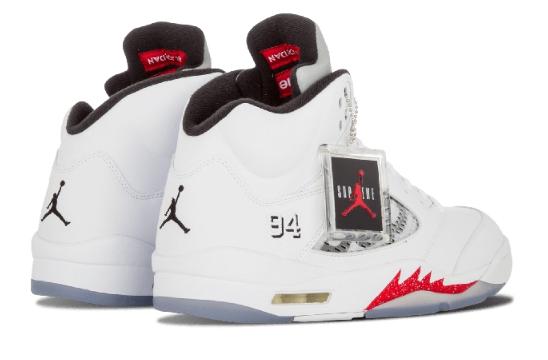 fab3bdb48c76d8271a85847d358f0f63 - Air Jordan 5 Retro Supreme 聯名款 824371 101 白灰 流川楓 男款 籃球鞋