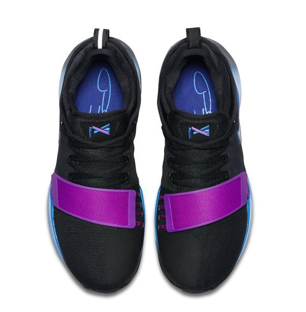 052653bf386860daca24e9988e052b96 - NIKE PG 1 黑紫藍 低幫 籃球 魔術粘 男 878628-003 - 耐吉官方網