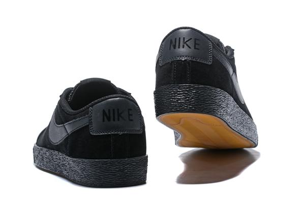 8ebc5c513c8b03b84763e0a892aa97cc - NIKE SB ZOOM BLAZER LOW 情侶鞋 全黑 麂皮 防滑