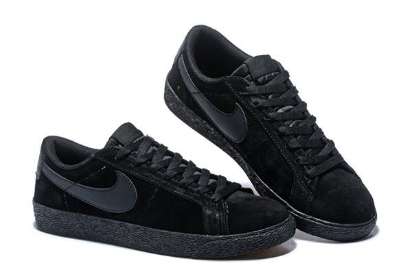 9e472370f2ba0d17a8e67aafee9a539a - NIKE SB ZOOM BLAZER LOW 情侶鞋 全黑 麂皮 防滑