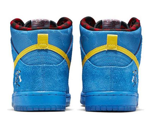 a2c2325b3ce37abc3553806ca58904ca - NIKE DUNK HIGH PREMIUM SB 藍色麂皮 紋理 高筒 聯名鞋款 男 313171-471
