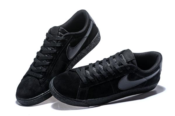d2e8e9943fa1e1e35a4deb2a52510543 - NIKE SB ZOOM BLAZER LOW 情侶鞋 全黑 麂皮 防滑