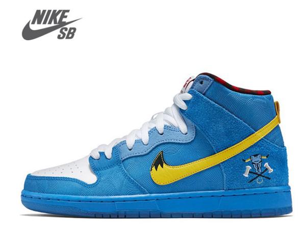 f73305f286c7847bbf8f84fb0e9f3a39 - NIKE DUNK HIGH PREMIUM SB 藍色麂皮 紋理 高筒 聯名鞋款 男 313171-471