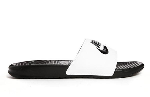 b2fb92b49d23f8968552cbee205cf276 - Nike Benassi JDI 343880-100 權志龍 基本款 GD 黑 白 拖鞋 情侶款