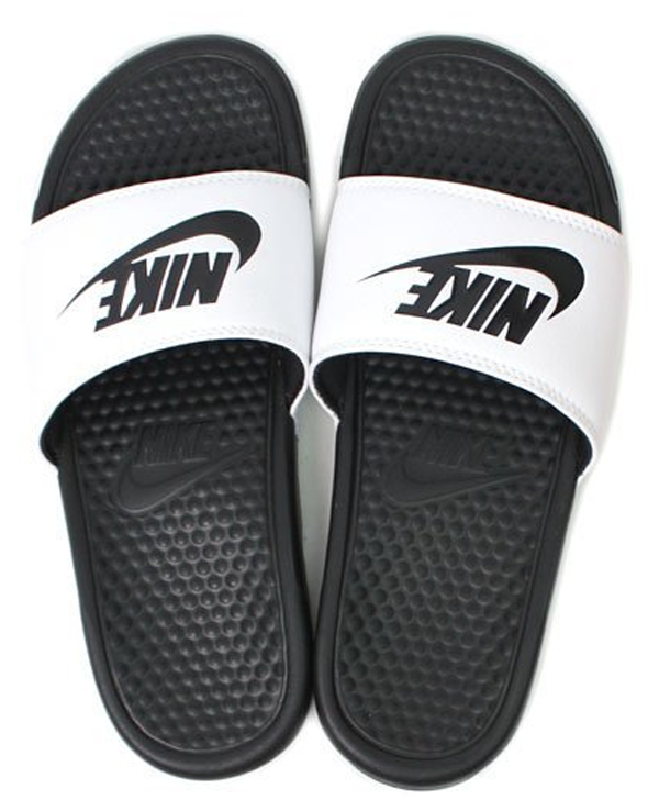 c2299f0492b7d7f06b35e5c01620cf94 - Nike Benassi JDI 343880-100 權志龍 基本款 GD 黑 白 拖鞋 情侶款