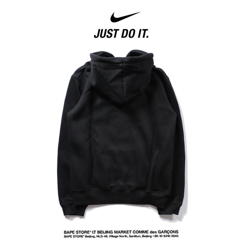15520b555cf7f4af89c8ffc601b178c4 - Nike 2018春秋薄款 衛衣 寬鬆 長袖 套頭 情侶款 黑色 印花logo