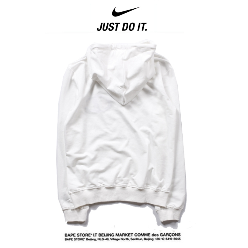 8fa784450d0af60c91523b8018f75788 - Nike 2018春秋薄款 衛衣 寬鬆 長袖 套頭 情侶款 白色 創意logo