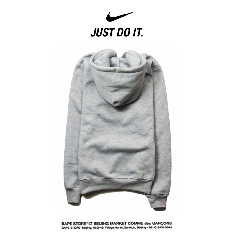 ae91fd4f06470fdbc6e0d83868295926 - Nike 薄款 衛衣 寬鬆 長袖 套頭 情侶款 灰色 創意字勾