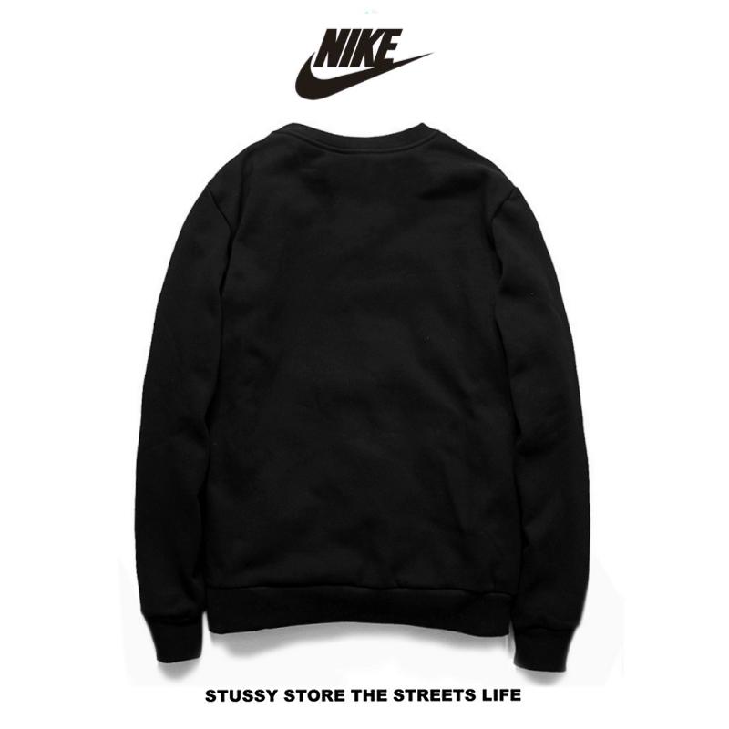 aea5d3cba916a6dc2b365df422933708 - Nike男女款 百搭長袖 純棉 薄款 春秋 時尚大學t 衛衣基本款 黑色