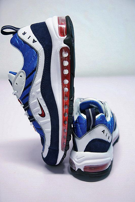 00cbd686999ba66959d63e7c5ab4e45f - Nike Air Max 98 復古 氣墊 百搭 慢跑鞋 男鞋 深藍寶 藍白紅 640744-064