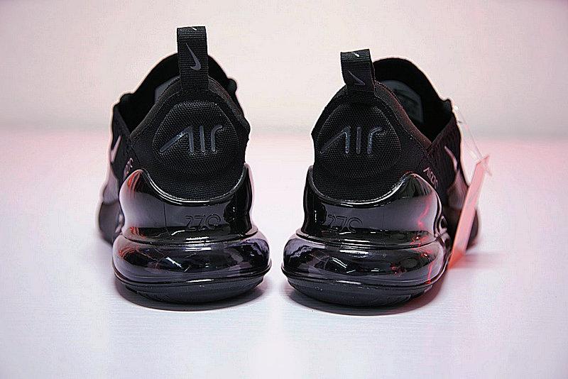 024dbe32a466ed1d9601e9f6ab222c41 - 男女鞋 Nike Air Max 270系列後跟半掌氣墊慢跑鞋 Triple Black 全黑 AH8050-001