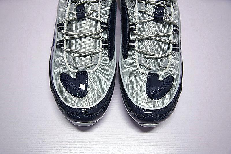0e89ced1acd70bf5b8391d4a369da480 - Supreme x NikeLab Air Max 98 復古氣墊百搭慢跑鞋 海軍藍灰 844694-400 男鞋