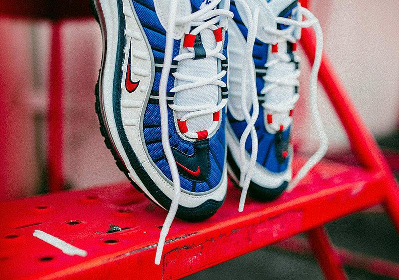 168cbce18cefb63790f7295998740f0a - Nike Air Max 98 復古 氣墊 百搭 慢跑鞋 男鞋 深藍寶 藍白紅 640744-064