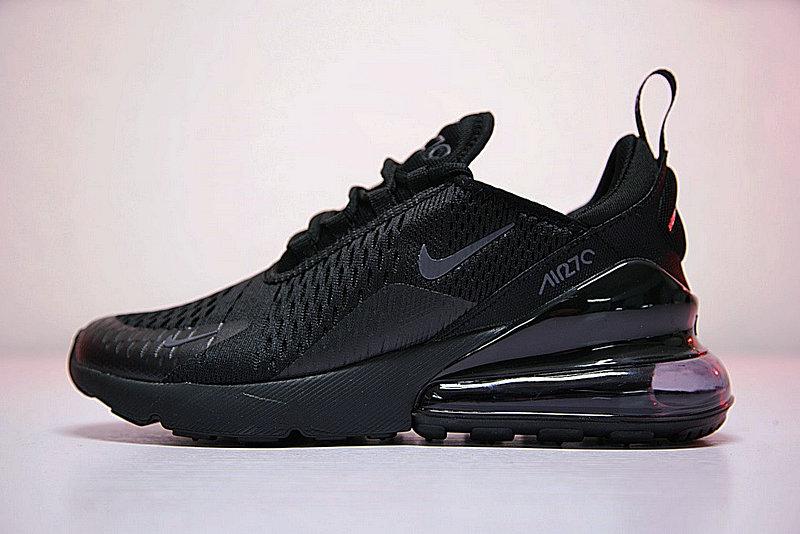 20746311851b81fa41dddde1ac710b55 - 男女鞋 Nike Air Max 270系列後跟半掌氣墊慢跑鞋 Triple Black 全黑 AH8050-001