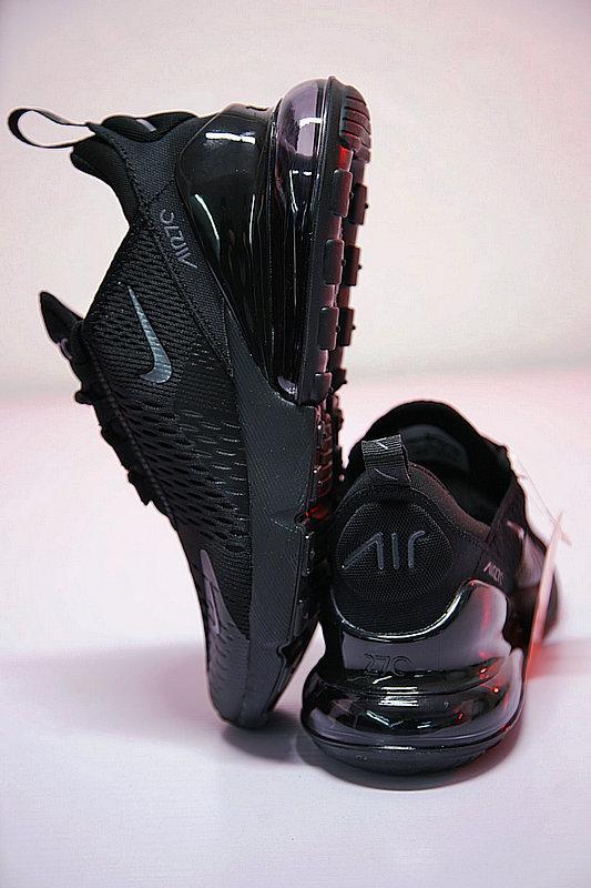 5086951c27744119418a6d84f805f456 - 男女鞋 Nike Air Max 270系列後跟半掌氣墊慢跑鞋 Triple Black 全黑 AH8050-001