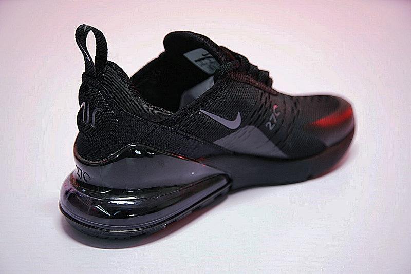 53e8274b6da8972ada7c4be358ea0144 - 男女鞋 Nike Air Max 270系列後跟半掌氣墊慢跑鞋 Triple Black 全黑 AH8050-001
