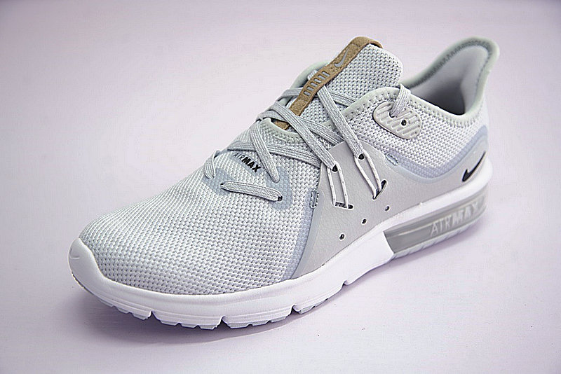 6dddd22926574255b41110cae167c927 - 男鞋 Nike Air Max Sequent 3代後掌緩震超軟氣墊慢跑鞋 白水灰棕 921694-008